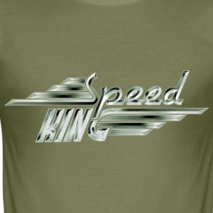Speed King - White Steel - Männer Slim Fit T-Shirt