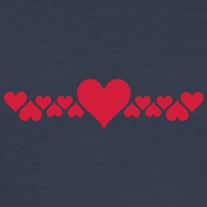 love heart T-Shirts - Men's Slim Fit T-Shirt