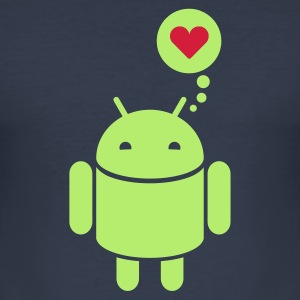Droid in Love 2c T-Shirts - Männer Slim Fit T-Shirt