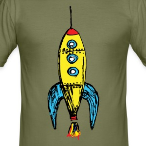 Rocket yellow T-Shirts - Men's Slim Fit T-Shirt