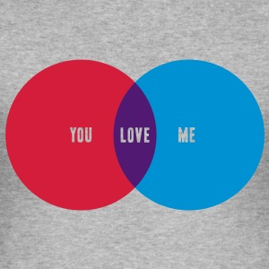 YOU + ME = LOVE T-Shirts - Männer Slim Fit T-Shirt