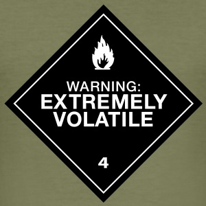 Warning Extremely Volatile - Tee shirt près du corps Homme