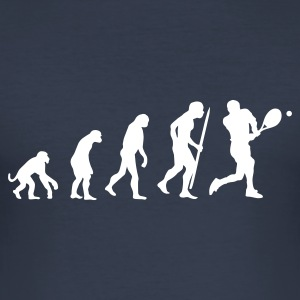 Navy evolution of tennis Men's T-Shirts - Men's Slim Fit T-Shirt
