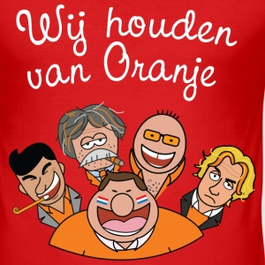 oranje_iedereeen_houdenvanoranje_wit T-shirts - slim fit T-shirt