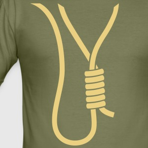 Noose - gallows - stag party T-Shirts - Men's Slim Fit T-Shirt