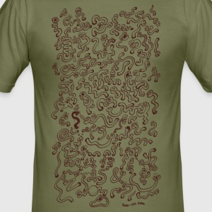 Worms Attack! T-Shirts - Men's Slim Fit T-Shirt