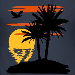 Sonnenuntergang - Sunset T-Shirts - Männer Slim Fit T-Shirt