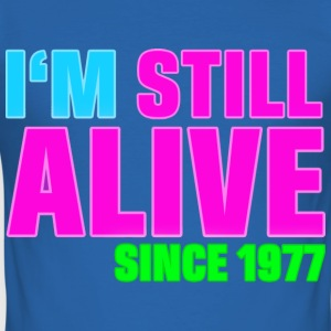 NEON - Birthday - still alive since 1977 (no) T-skjorter - Slim Fit T-skjorte for menn
