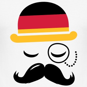 Germany fashionable retro iconic gentleman with flag and Moustache | sports | football |  T-shirts - Slim Fit T-shirt herr