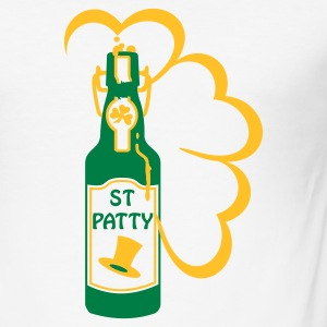 Vit st patty bottle (2c) T-shirts - Slim Fit T-shirt herr