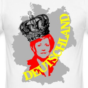 Germany football Germany Angela Merkel - Men's Slim Fit T-Shirt