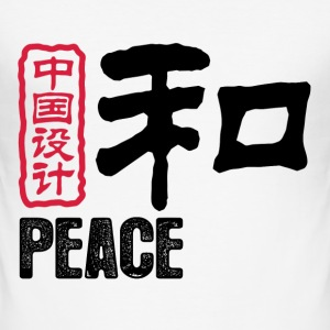 Vit Chinese Peace 1 (NEU, DD) T-shirts - Slim Fit T-shirt herr