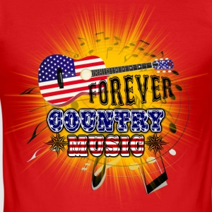 forever country music Tee shirts - Tee shirt près du corps Homme