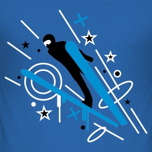 Sky blue ski_3 Men's T-Shirts - Men's Slim Fit T-Shirt