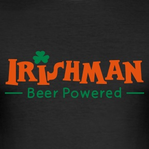 Egg yellow Beer Powered Irish Man Men's T-Shirts - Men's Slim Fit T-Shirt