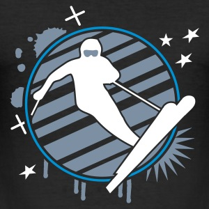 Zwart ski_4 T-shirts - slim fit T-shirt