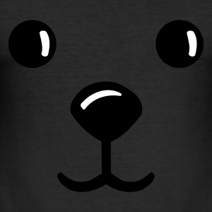 Eigelb teddy face gesich smile teddybär T-Shirts - Männer Slim Fit T-Shirt