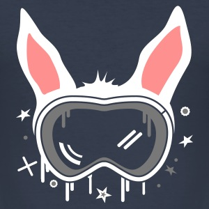 Dark navy Ski Bunny T-shirts - slim fit T-shirt