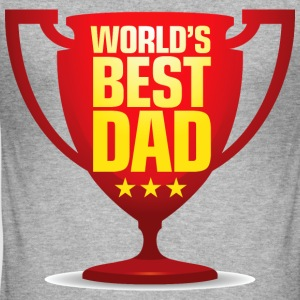 Worlds Best Dad 9 (dd)++ T-shirts - Slim Fit T-shirt herr