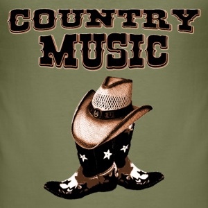 country music T-shirts - Slim Fit T-shirt herr