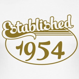 Birthday-Shirt - Geburtstag - Established 1954 (sv) T-shirts - Slim Fit T-shirt herr
