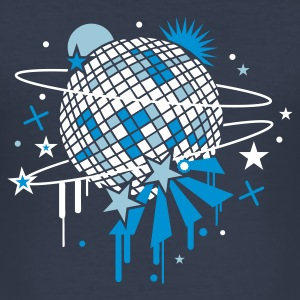 Navy Disco Kugel T-Shirts - Männer Slim Fit T-Shirt