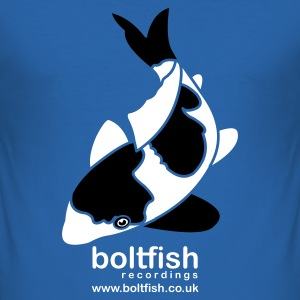 Sky blue Boltfish Koi Fish Men's T-Shirts - Men's Slim Fit T-Shirt