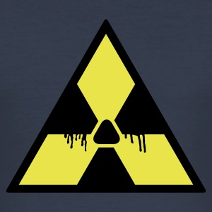 Dark navy Nuclear Warning Paint 2C T-shirts - slim fit T-shirt