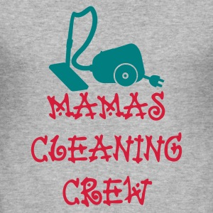 Grå meleret Mamas cleaning crew (2c) T-shirts - Herre Slim Fit T-Shirt