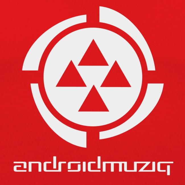 Android Muziq - Light Grey logo on Dark Orange