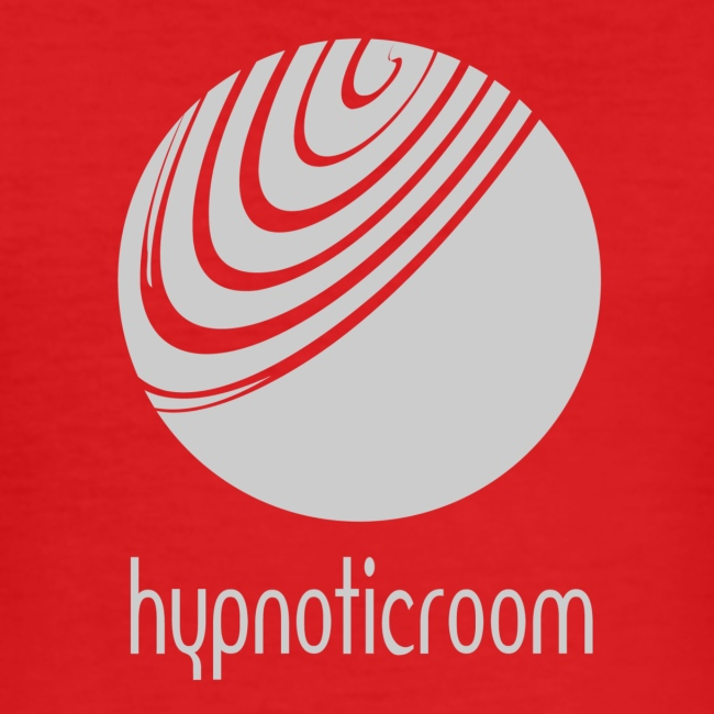 Hypnotic Room - Light Grey logo on Dark Orange