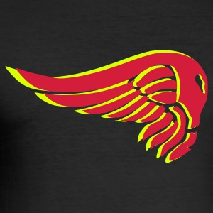 Schwarz wing on fire T-Shirts - Männer Slim Fit T-Shirt