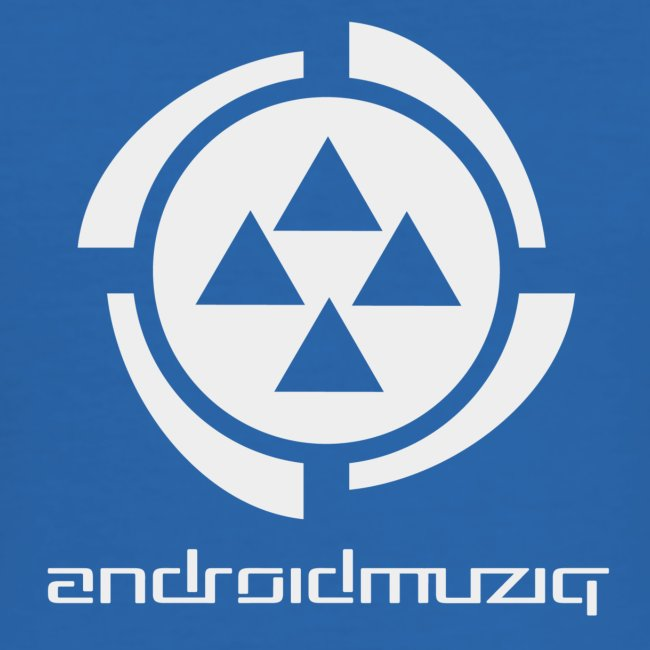 Android Muziq - Light Grey logo on Blue
