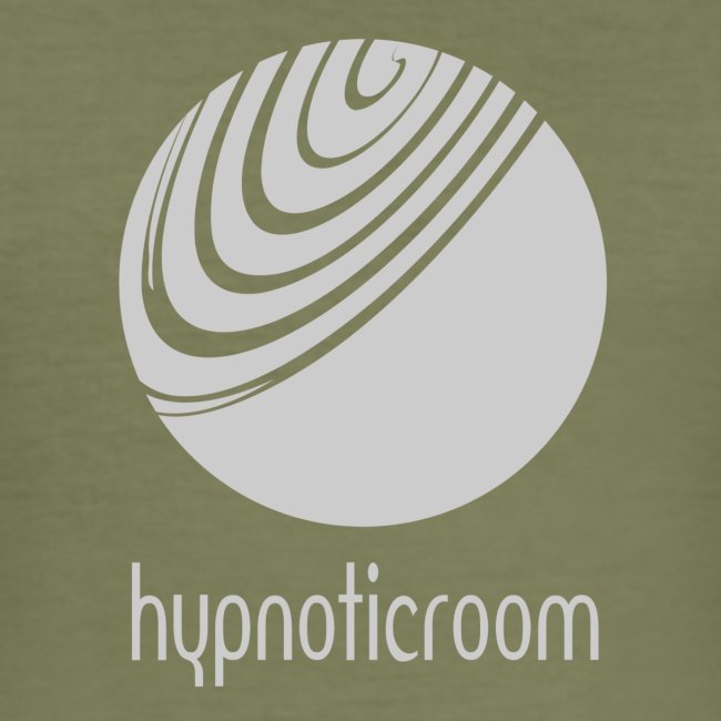 Hypnotic Room - Light Grey logo on Brown