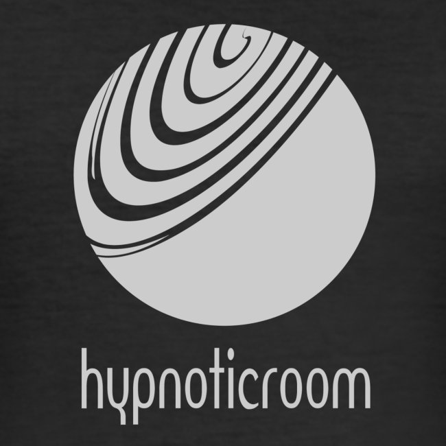 Hypnotic Room - Light Grey logo on Black