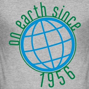 Birthday Design - (thin) on earth since 1956 (uk) T-Shirts - Men's Slim Fit T-Shirt