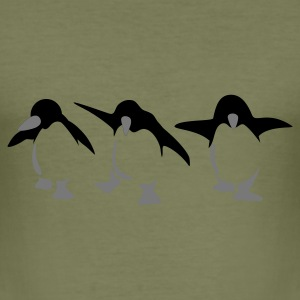Khaki green Penguin Men's T-Shirts - Men's Slim Fit T-Shirt