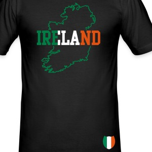 Schwarz ireland map T-Shirts - Männer Slim Fit T-Shirt