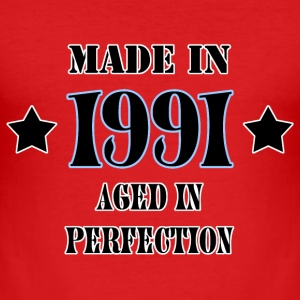 Made in 1991 T-Shirts - Men's Slim Fit T-Shirt
