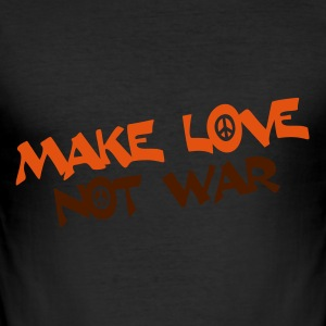make LOVE not WAR - Männer Slim Fit T-Shirt