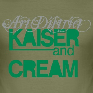 KAISER&CREAMart supports man - Männer Slim Fit T-Shirt
