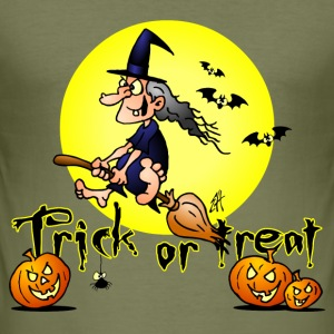 Halloween, Trick or treat Camisetas - Camiseta ajustada hombre