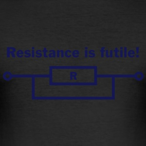resistance is futile! T-skjorter - Slim Fit T-skjorte for menn