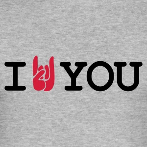 Gråmelerad i rock you T-shirts - Slim Fit T-shirt herr