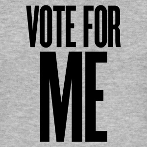 Gråmelerad vote for me T-shirts - Slim Fit T-shirt herr