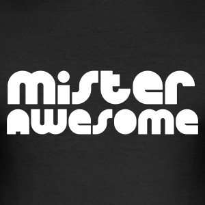 Svart mister awesome T-shirts - Slim Fit T-shirt herr