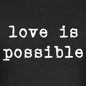 Svart love is possible T-shirts - Slim Fit T-shirt herr
