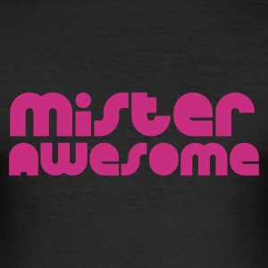 äggul mister awesome T-shirts - Slim Fit T-shirt herr