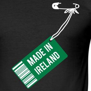 Schwarz Made in Ireland T-Shirts - Männer Slim Fit T-Shirt
