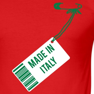 Rot Made in Italy T-Shirts - Männer Slim Fit T-Shirt